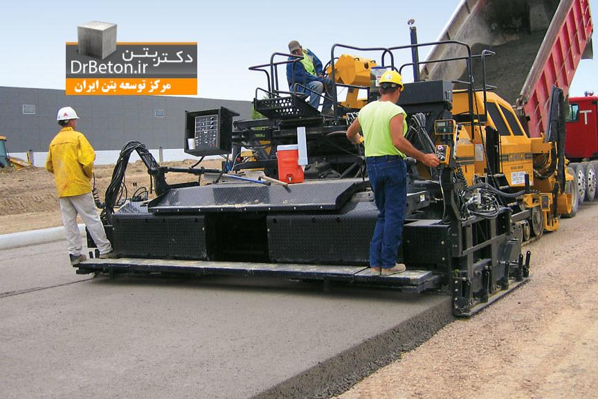 DrBeton-دستورالعمل ساخت و اجرای روسازی بتن غلتكی-ويرايش اول طرح اختلاط بتن غلتکی بتن ریزی بتن غلتکی RCC Roller-compacted concrete